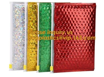 Hot Metallic Colorful Bagease Packaging Zipper Bubble Bag For Cosmetic Packaging,Ziplockk Bubble Bags are Made of PET/CP