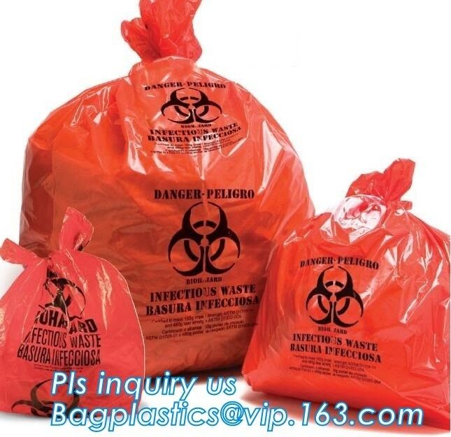 Biohazard Recycle Autoclavable Biohazard Bags On Roll Colored Medical Waste